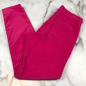 Gap Hot Pink Legging Jean Corduroy Size 10